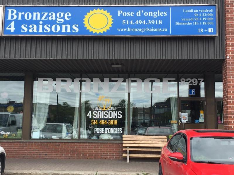 Salon de bronzage 4 saisons opening hours 8297 boul for Salon de bronzage