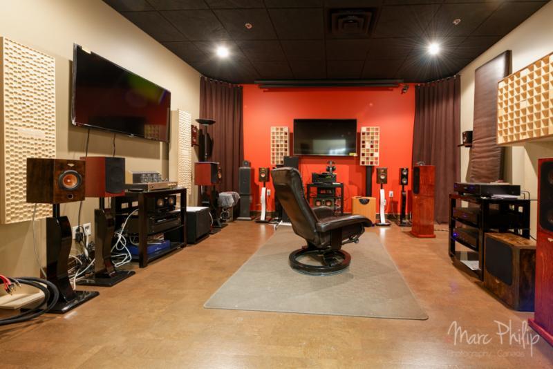 Salle d'écoute audio et vidéo