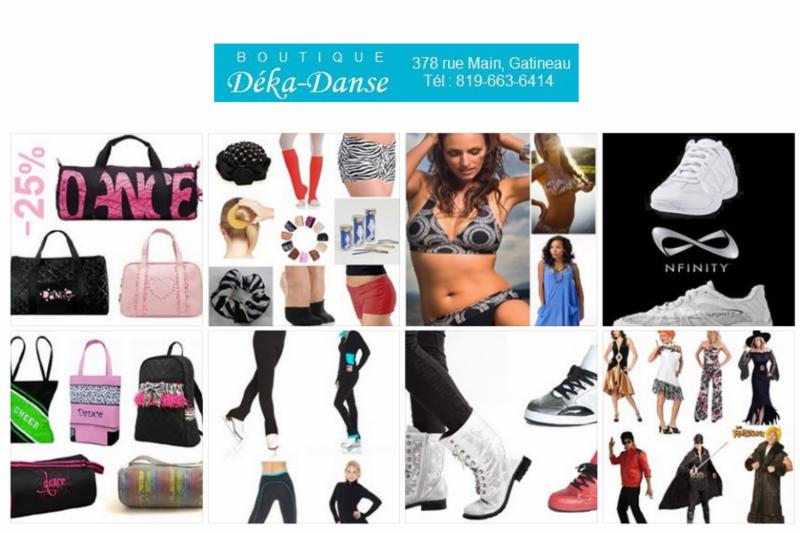 boutique deka danse gatineau qc 378 rue main canpages