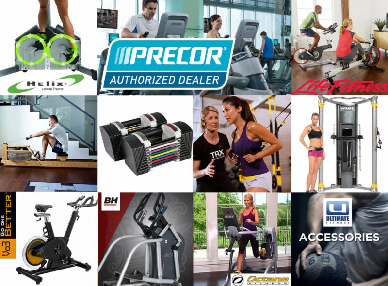Brands we carry: LifeFitness, WaterRower, BH, PowerBlock, Hoist, Octane, PRECOR, Helix, TRX, Vo3, Ultimate and more!