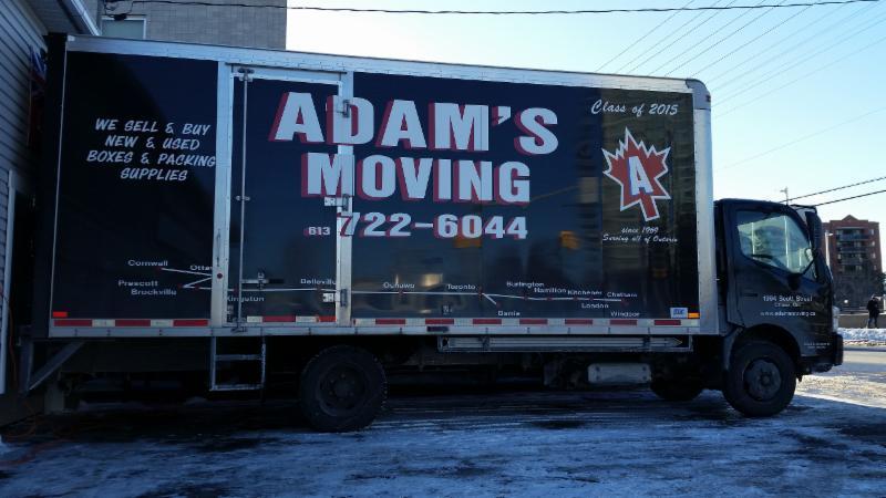 Adam's Moving trucks