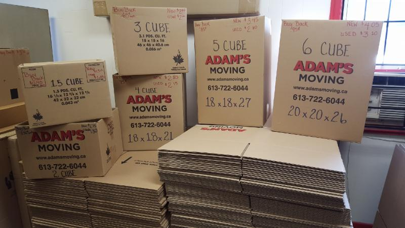 Boxes from Adam's Moving