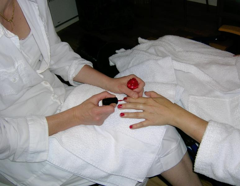Manicure and pedicure available