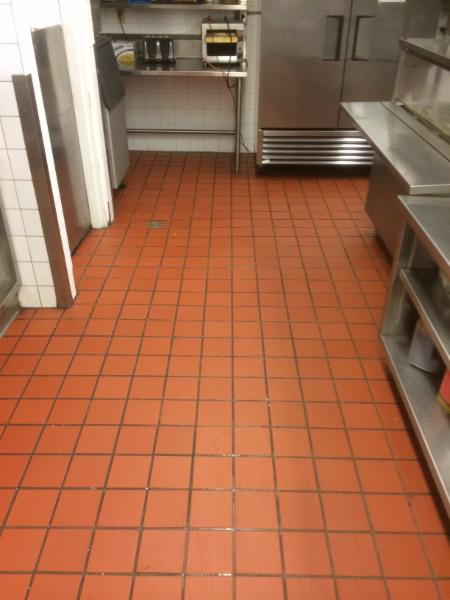 restaurant kitchen - tile and grout cleaning