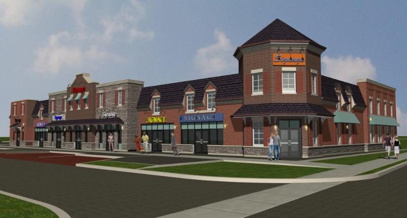 2240 King Road, King City - Commercial plaza planned for the north-east corner of Keele Street and King Road