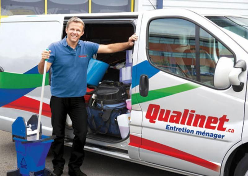 Qualinet-Camion entretien menager