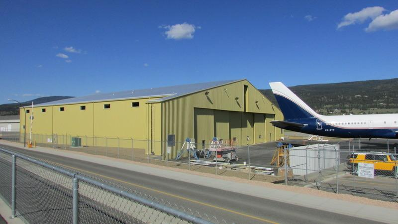 completed airport hangar