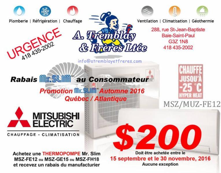 Promotion Mitsubishi !     200 $ de rabais !           (Jusqu'au 30 novembre 2016 seulement.)