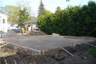 Concrete Foundation for Garage