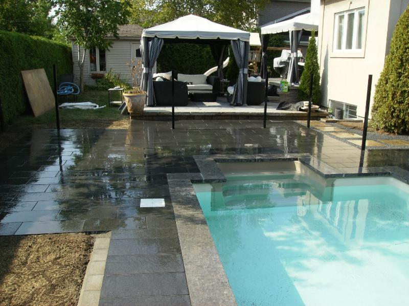 Am nagements paysagiste beau pav horaire d 39 ouverture for Club piscine laval heures d ouverture