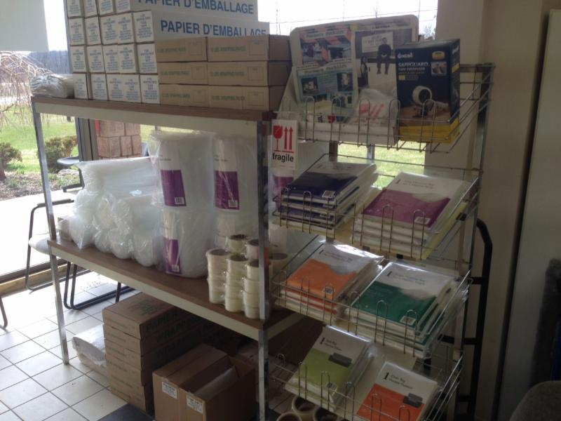 a large selection of moving supplies