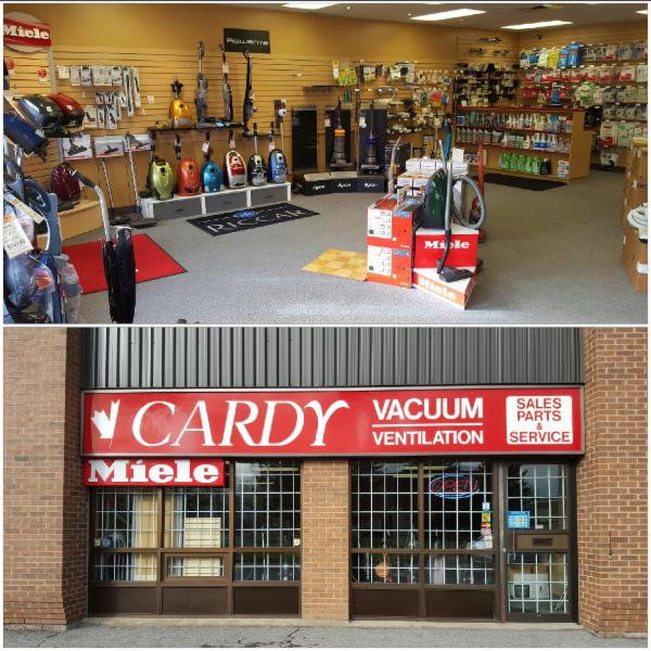 Cardy Vacuum is Ottawa's full service vacuum store.  With a wide range of vacuums, from central vacuums to hand vacuums, Cardy has a vacuum for any  need.  A large selection bags, filters, belts and parts are available.  We repairs all vacuums.