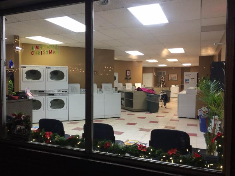 Inside view of the Laundromat