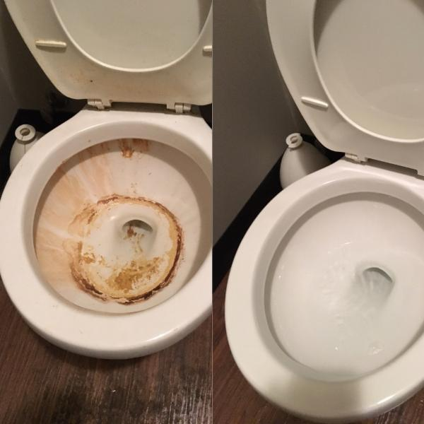 Deep Cleaning     Bathroom     Before and after