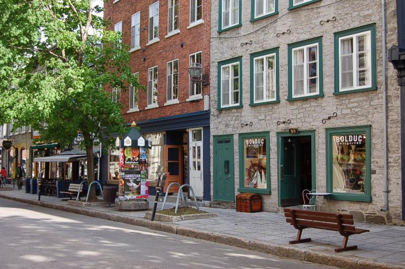 The antiques store is located in the Old Port of Quebec, at 89, St-Paul.