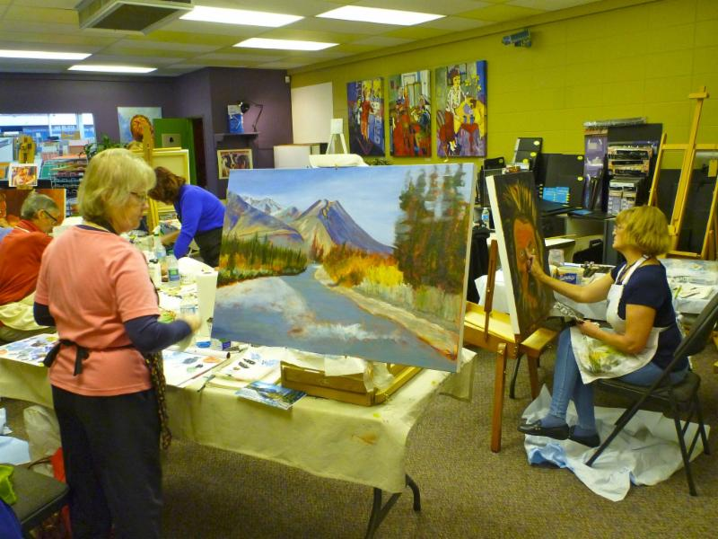We invite all ages into our gallery to learn and grow with qualified instructors who provide classes and workshops in oil, watercolour, acrylic, drawing and mixed media. Your work will not only inspire students as they create, but also our visitors!
