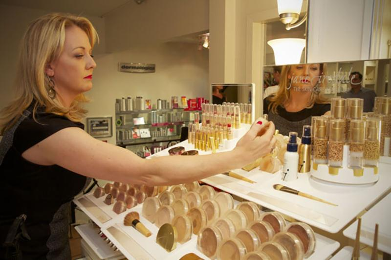 Visit our jane iredale make up counter! Make up that is good for your skin. Available also online at www.spaon4th.com