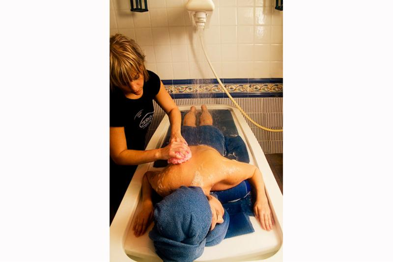 A Vichy shower is a fantastic water massage, imagine warm water cascading over your body? Scrub included. We have two tiled Vichy shower rooms at the spa. See Body Scrubs under Services on our website.