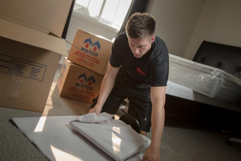 Leave the packing of your home to Matco Moving Solutions. Matco has the trained staff and proper supplies to pack all items in your home, so they arrive damage free.