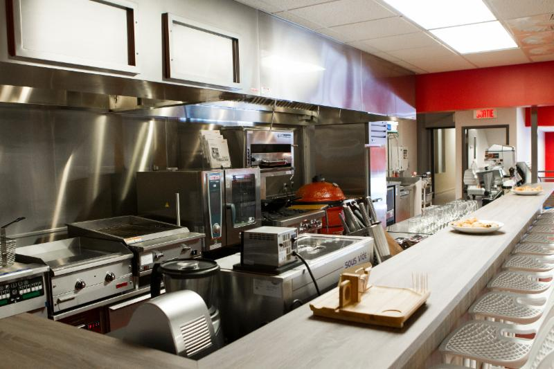 Cuisine pour démonstrations culinaires, cours de cuisine et de BBQ