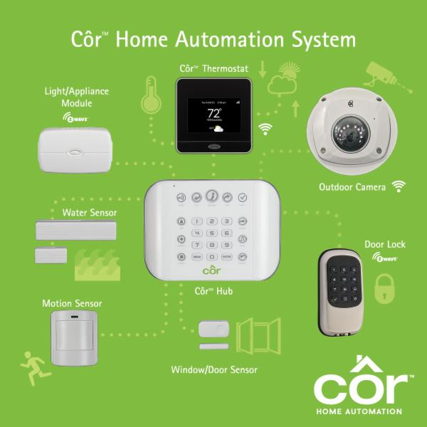 Cor Home Automation by Carrier. The newest in home security and automation.