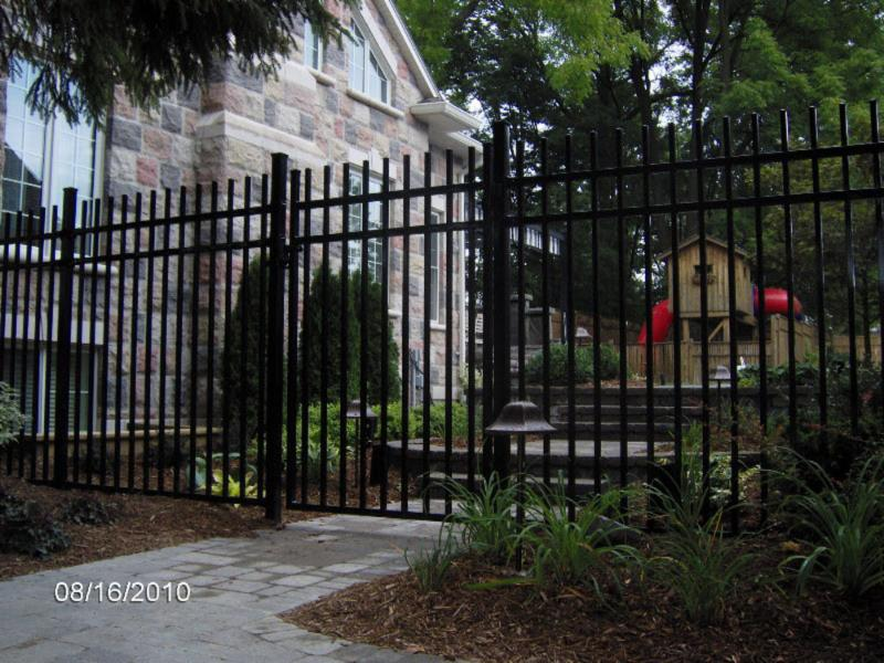 Nuvo Iron high gloss black wrought iron ornamental, Blyth, ON.