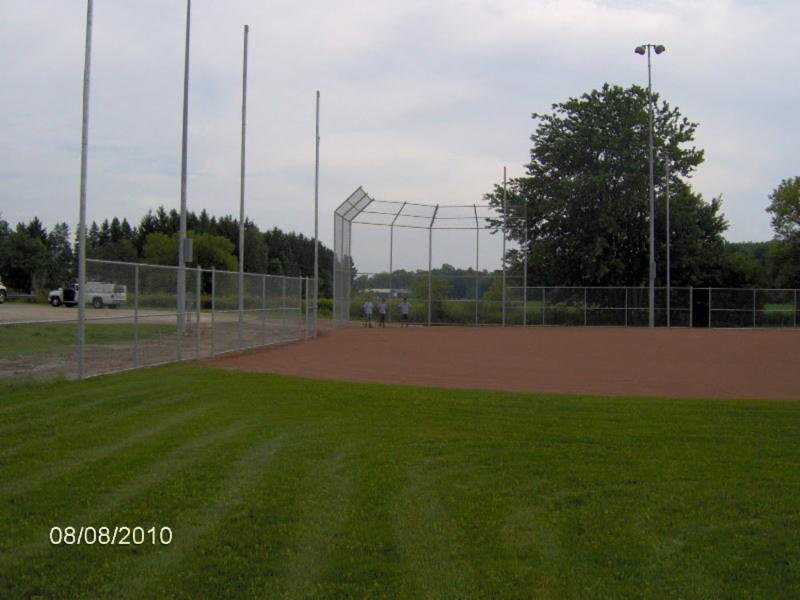New Backstop, line fence and home run fence in Milverton, ON