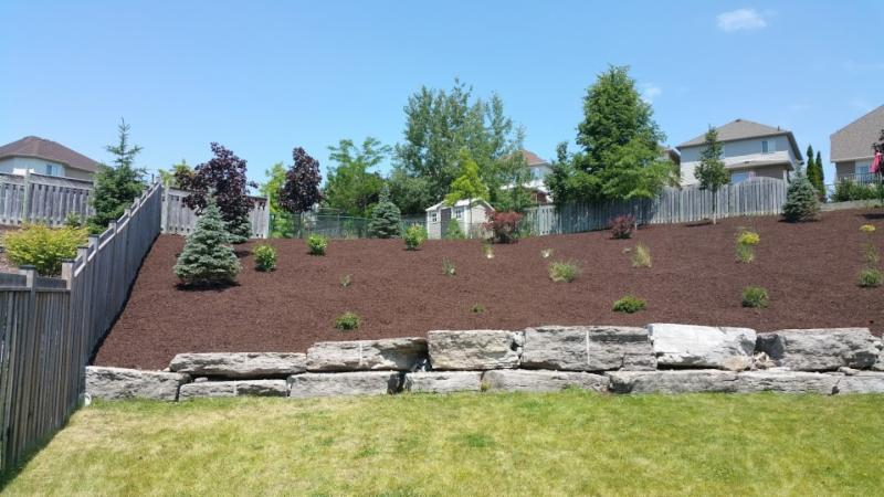 large garden bed mulch