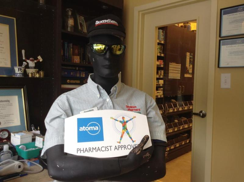 Bob (our mannequin) loves our ATOMA house brand