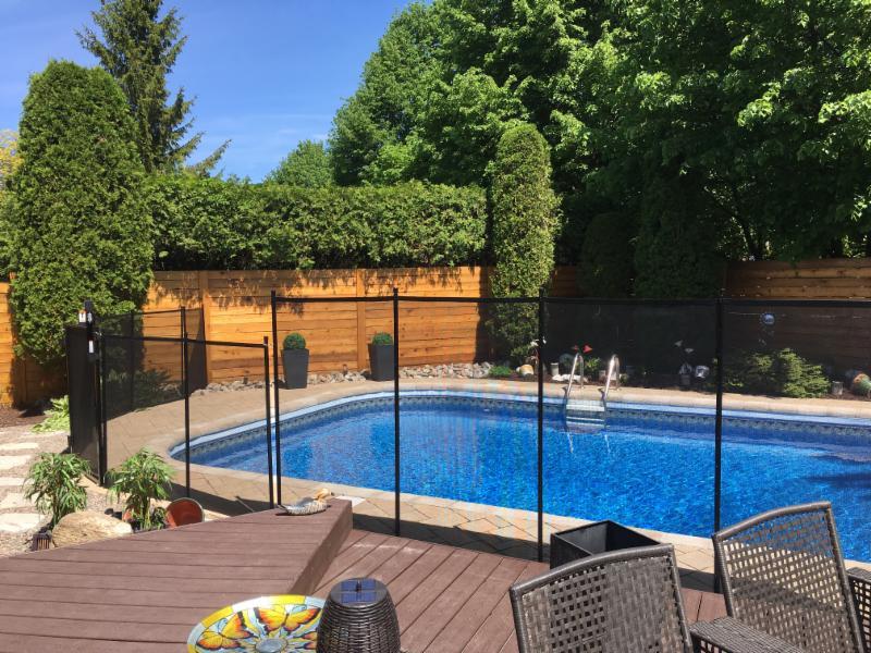 Cl tures amovibles estrie mont r gie horaire d 39 ouverture for Cloture pour piscine hors terre