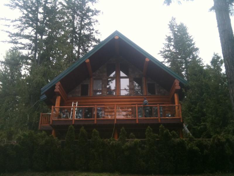 exterior log home