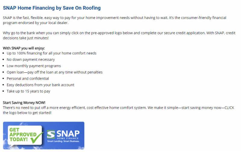 SNAP Financing