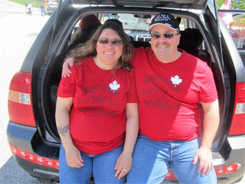 Louise and I in the 2011 Canada Day Parade in Baddeck.