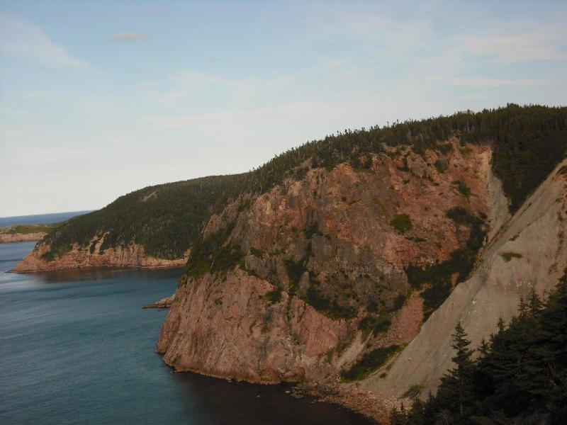 The rugged mountains of the Cabot Trail.