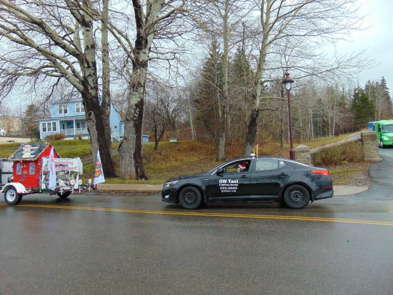 Taking part in the Baddeck Santa Clause Parade.