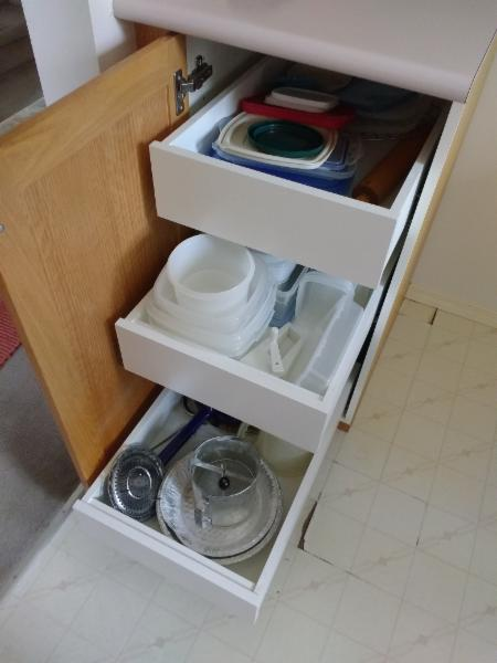Convenient Roll Out Shelving