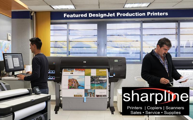 Imprimantes de fabrication HP DesignJet offertes par Sharpline Canada