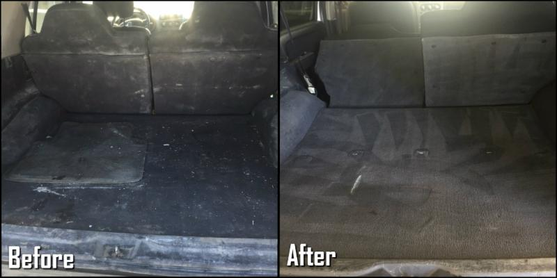 Before and After we clean your Cargo Area