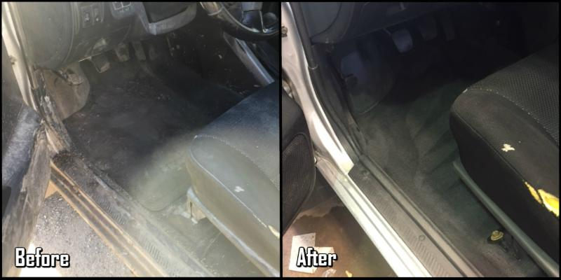 Before and After - Driver Floor area