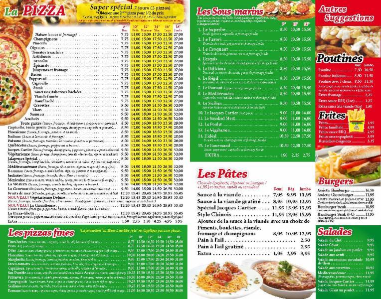 Restaurant Longueuil Livraison Menu