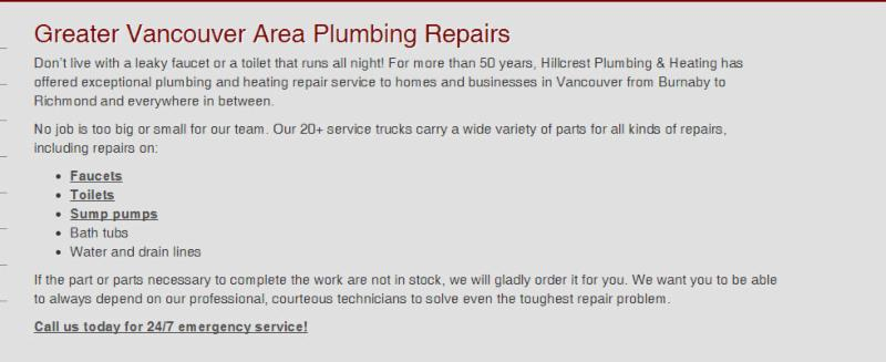 photo Hillcrest Plumbing & Heating