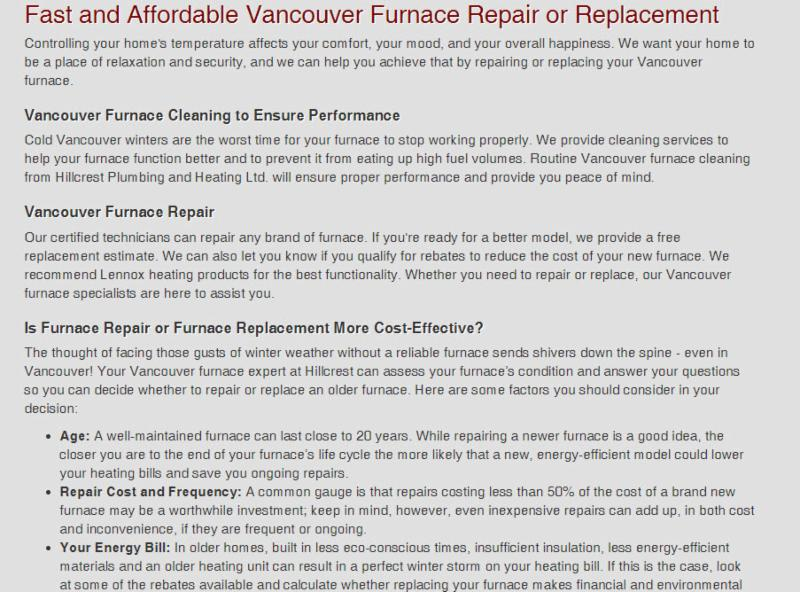 Furnace Repair And Service