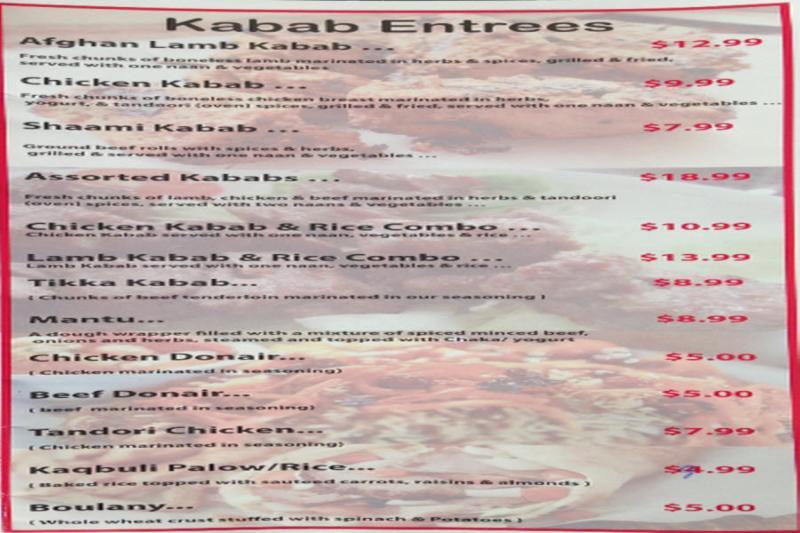 Afghan Express Restaurant Calgary