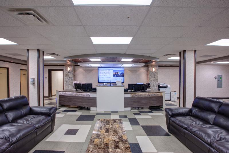 Front reception of modular lodge