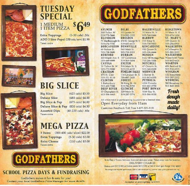 Godfather's Pizza is a privately owned restaurant chain headquartered in Omaha, Nebraska, that operates fast casual Italian franchises. You will get information about Godfather's Pizza Today, Sunday, What time does Godfather's Pizza Open/ closed.