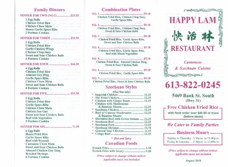 Chinese Kitchen Menu Gloucester