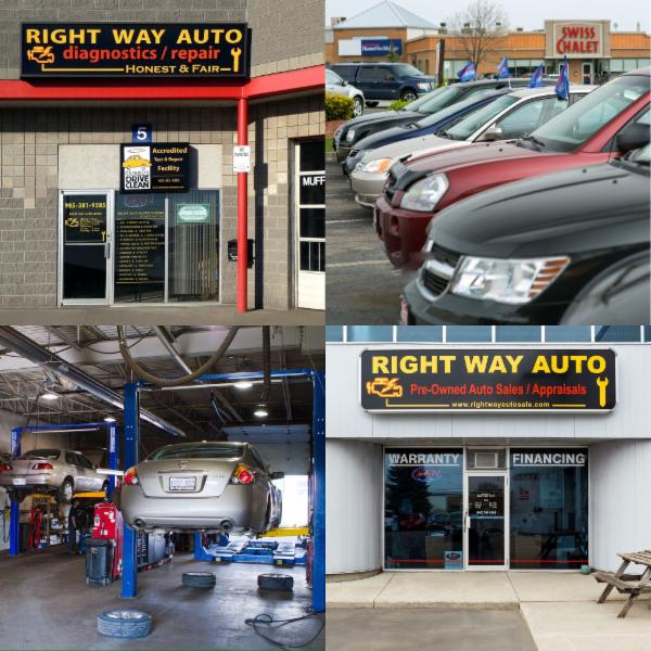 Right Way Auto Repair and Sales, full service automotive mechanical repair center, accredited Drive Clean/Emissions test & repair facility and pre-owned auto dealership.