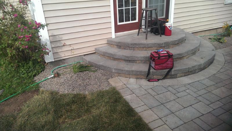 Pavers and new Front Step