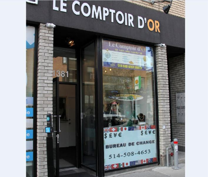 Bureau de change comptoir d 39 or horaire d 39 ouverture for Bureau quebec montreal