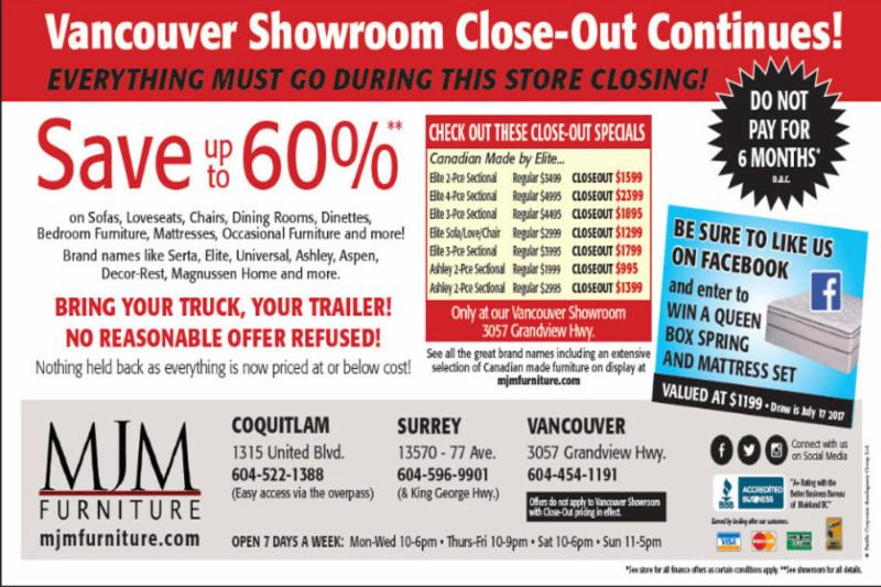 M J M Furniture Centre Vancouver Bc 3057 Grandview